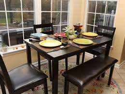 black wood dining table with bench best gallery of tables furniture