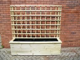 large rectangular planter with trellis garden design pinterest