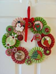 rosette christmas wreath kitchen table stamper