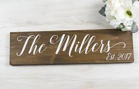 wedding gift name sign bridal shower gift last name sign rustic wedding decor mothers