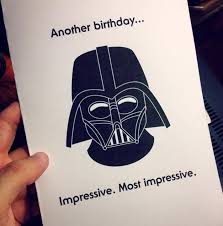 whipped up a birthday card for my dad starwars