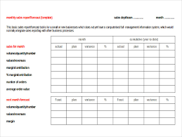 Monthly Sales Report Template Excel Sales Order Template 6 Free Word Pdf Documents Free