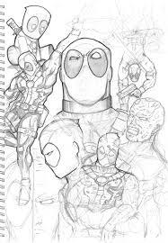 deadpool sketches by truze on deviantart