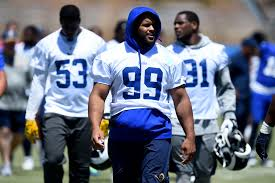 rams make it official aaron donald won u0027t play sunday and now