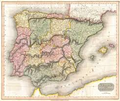 Portugal And Spain Map by File 1815 Thomson Map Of Spain And Portugal Geographicus Spain