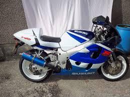 suzuki gsxr 750 x 1999 white blue 749 cc 10 000 miles