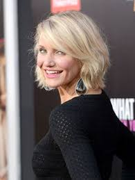 Bob Frisuren Cameron Diaz by Cameron Diaz With Chin Length Bob And Side Bangs Hair Styles For