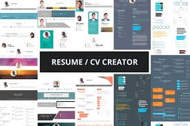 Online Resume Creater by Resume Cv Creator Kit Resume Templates Creative Market