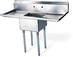 EQ  Compartment Commercial Kitchen Sink Stainless Steel Amazon - Commercial kitchen sinks stainless steel
