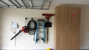 Garage Wall Organizer Grid System - garage wall storage in grid system traditional granny flat or