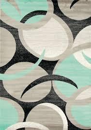 1062 gray sea foam black white 8x11 modern area rug comteporary