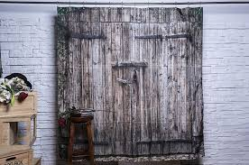 amazon com vintage wood barn door shower curtain by foog rural