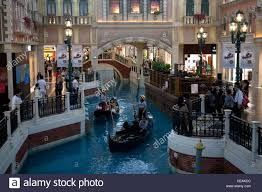 shoing canap gondola on the grand canal in the shopping mall part of the venetian