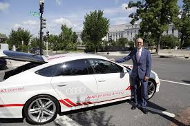 audi a7 self driving greg walden takes to highway in self driving car congressman