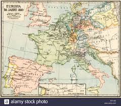 Map Of Germany In Europe by Map Of Europe In 1810 During The Napoleonic Wars Labels In German