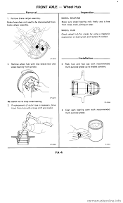 nissan murano wheel bearing replacement nissan 300zx 1985 z31 front suspension workshop manual