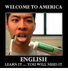 America Meme - welcome to america english learn it you will need it america meme