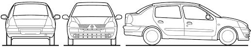 car blueprints renault clio symbol blueprints vector drawings