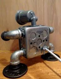 robot lamp mr i have 4 usb outlets by josephbarral on etsy