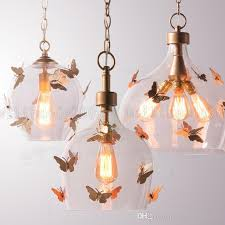 Butterfly Kids Room by Discount Be53 American Retro Simple Balcony Corridor Chandeliers