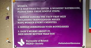 university bathroom posters claim transgender people u0027rape women