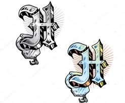 tattoo design hand drawn tattoo style letter