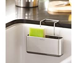 Kitchen Sink Scrubber Holder by Amazon Com Simplehuman Slim Sink Caddy Brushed Stainless Steel