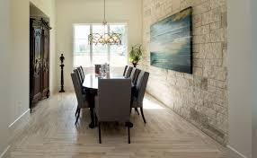 contemporary dining room with hardwood floors by john valentine