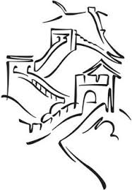 great wall of china easy drawing education pinterest