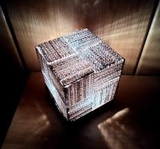 Upcycle That - cube cardboard lamp upcycle that