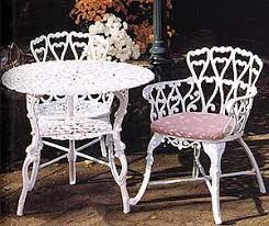 Iron Bistro Chairs with Bistro Furniture