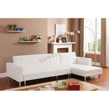 White Leather Corner Sofa Bed White Pu Leather Corner Sofa Bed L Shaped Barcelona