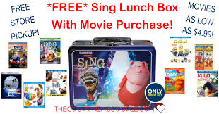 free sing lunch box when you buy a movie movies as low as 4 99