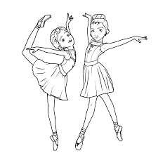 coloring pages ballerina excellent ballet position coloring page