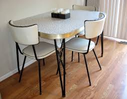 retro kitchen table and chairs set smooth base