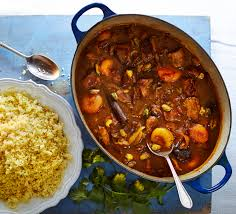 moroccan chicken couscous with dates recipe bbc good food
