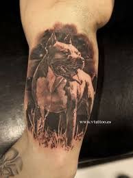 60 awesome dangerous pitbull dog tattoos golfian com