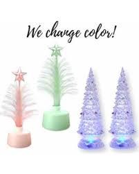 find the best deals on light up tabletop tree set set of 4 led