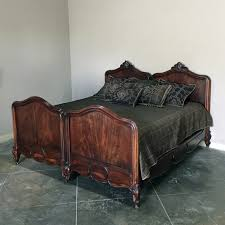 French Louis Bedroom Furniture by Antique King Size French Louis Philippe Solid Mahogany Bed Circa 1850