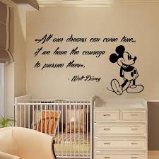 Decoration Baby Nursery Wall Decals by Mickey Mouse Wall Decals Quote Dreams Art Vinyl Sticker Kids