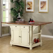 two island kitchen coaster furniture 102271 two tone island kitchen table with leaves