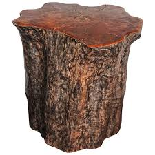 tree trunk end table organic form lychee tree trunk pedestal or end table at 1stdibs