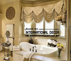 curtain ideas for bathroom windows modern pinch pleated curtains for bathroom window covering