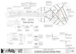 plan view 0 28vs 12 fret guitar plans electronic version 0 28vs guitar