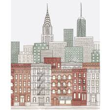 city backdrop colorful new york city sketch printed backdrop backdrop express