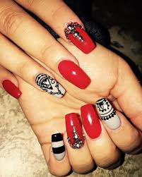 29 red acrylic nail art designs ideas design trends premium