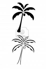 black tribal palm tree not filled in on the top of my