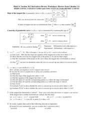 parametric equations graphs review answers f2014 math 1c section