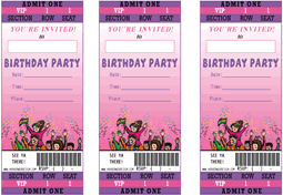 printable birthday party ticket theme party invitations templates