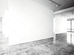 exposition modern gallery open space blank white empty canvas